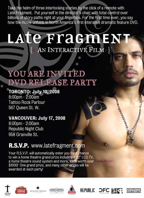 Late Fragment DVD Release Party Evite